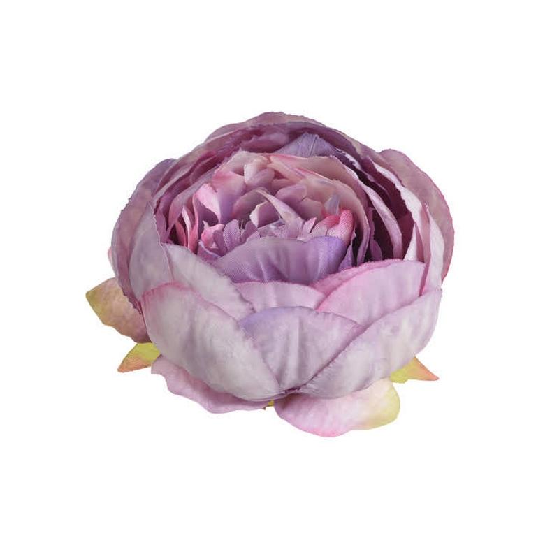 Κεφάλι παιώνιας, 9cm white lilac