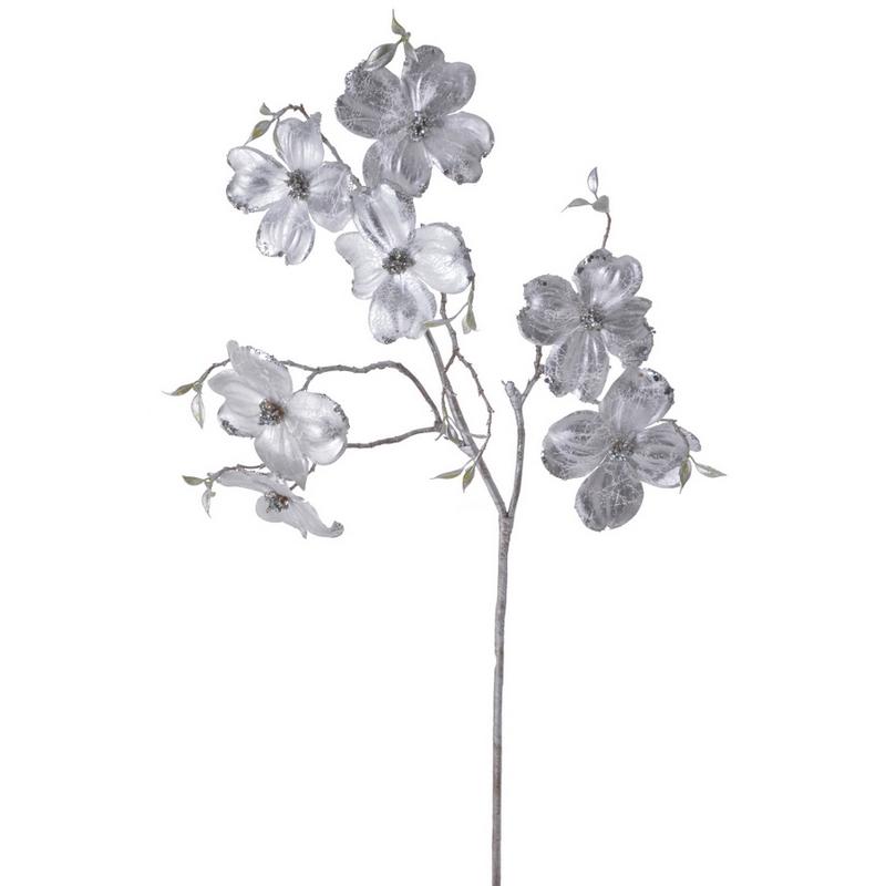 Κλαδί μανόλια, 95cm, silver