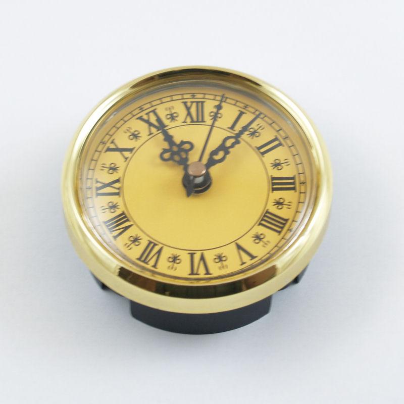 Μηχανισμός ρολογιού plexiglass, gold 80mm