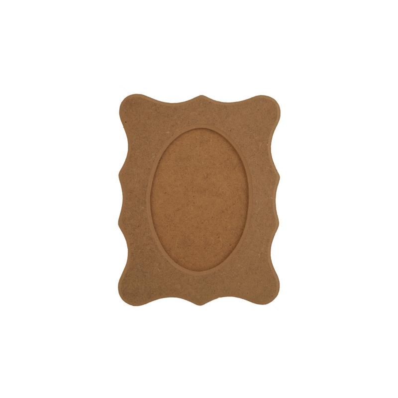 Κορνίζα MDF Οval-παραλληλόγραμη 22,5x17,5cm