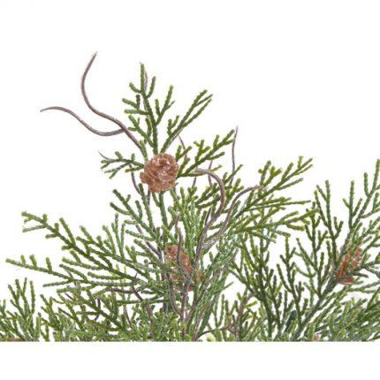Κλαδί πεύκου με κουκουνάρια, 40cm