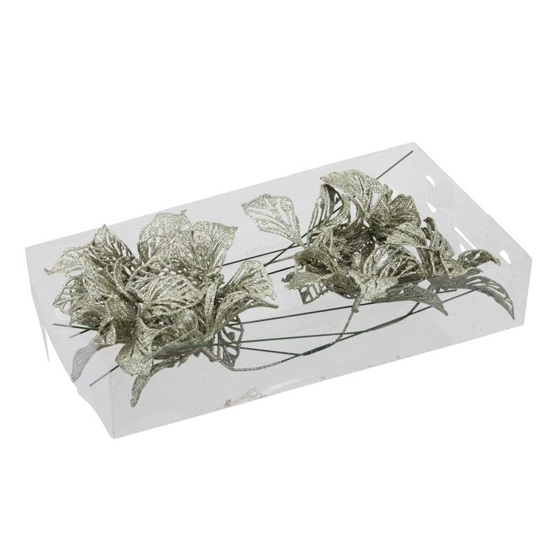 Χριστουγεννιάτικες μπάλες 57mm από φυσητό γυαλί , white-satin, 16τεμ