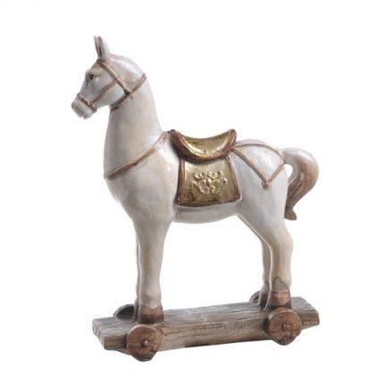 Διακοσμητικό αλογάκι σε βάση κεραμικό, 12x4,5x15cm