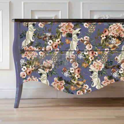 Έπιπλο με Χαρτί Decor Transfer Prima Re-Design, Elegance & Flowers, 121x89cm