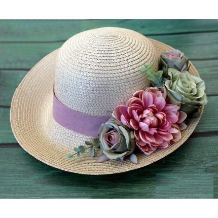 Καπέλο γυναικείο για διακόσμηση, 59cm, light ecru