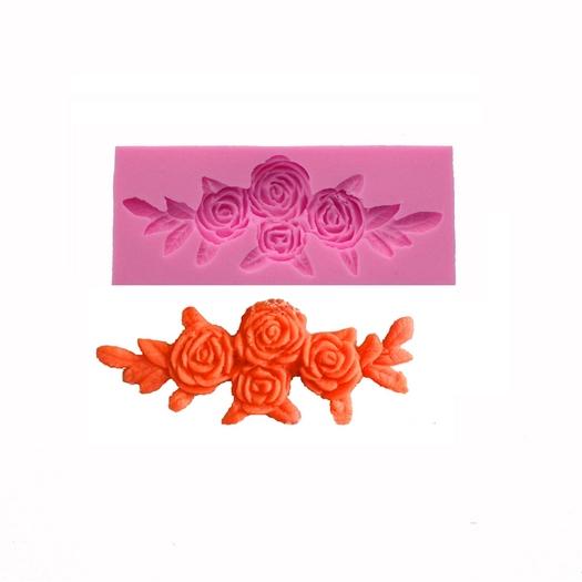 Καλούπι σιλικόνης, Γιρλάντα τριαντάφυλλων, 10x4x1,2cm