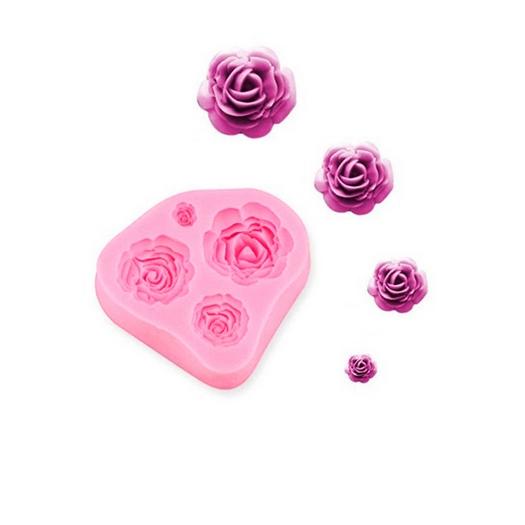 Καλούπι σιλικόνης Τριαντάφυλλα 7,5x7,2cm