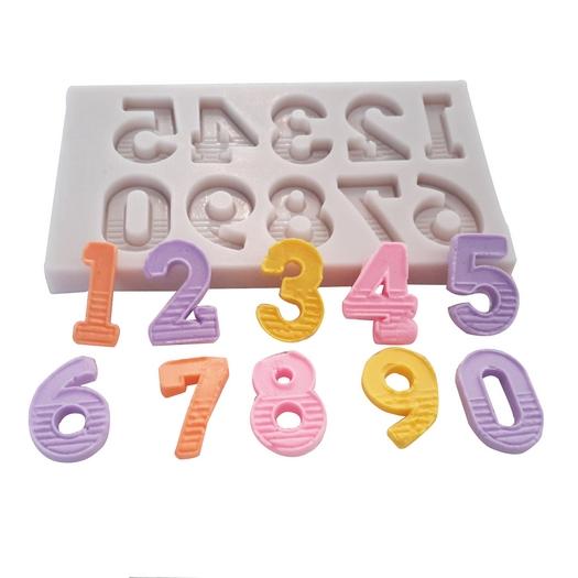 Καλούπι σιλικόνης, Νούμερα, 9,1x5,3x0,8cm
