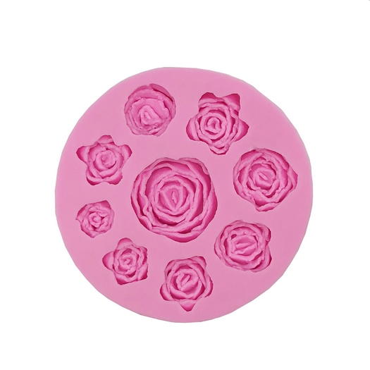 Καλούπι σιλικόνης Τριαντάφυλλα 10x1,2cm