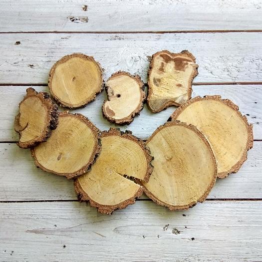 Φέτες ξύλου φυσικές, 5-10cm, 8 τεμ.