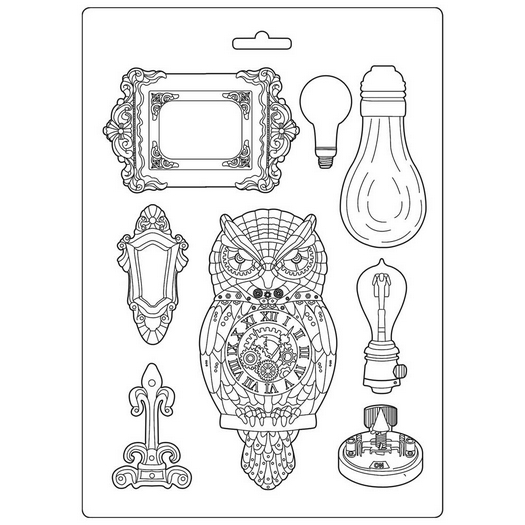 Καλούπι εύκαμπτο A4, 21x29cm, Stamperia, Alphabet