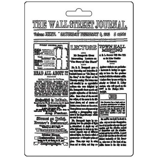Καλούπι εύκαμπτο A5, 15x21cm, Stamperia, Journal