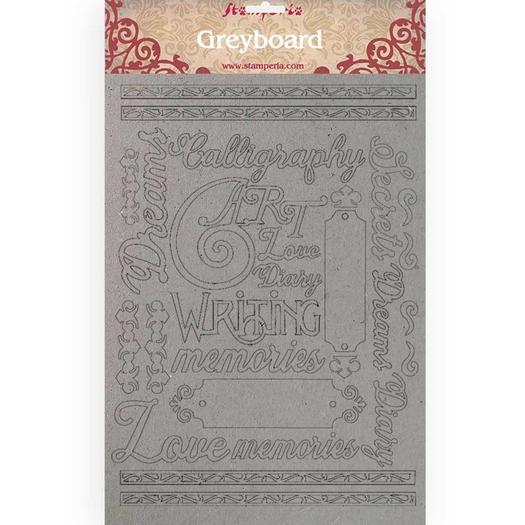 Διακοσμητικά από χαρτόνι Stamperia, 21x29,7cm/2mm, Calligraphy