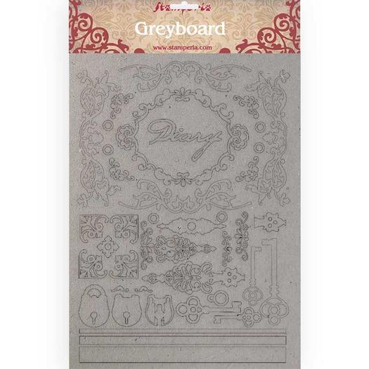 Διακοσμητικά από χαρτόνι Stamperia, 21x29,7cm/2mm, Diary