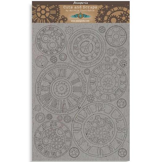 Διακοσμητικά από χαρτόνι Stamperia, 21x29,7cm/2mm, Sir Vagabond Gears