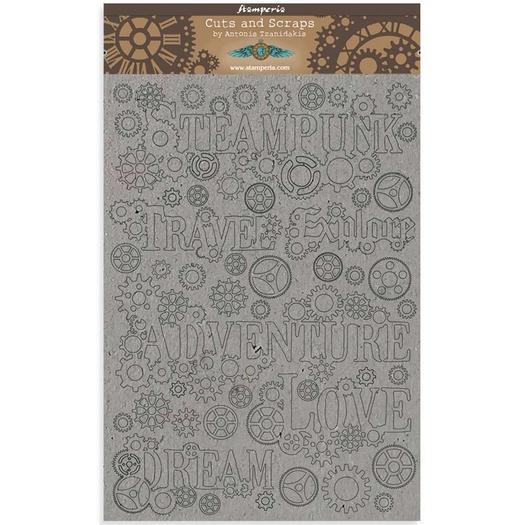 Διακοσμητικά από χαρτόνι Stamperia, 21x29,7cm/2mm, Sir Vagabond, Sentiments