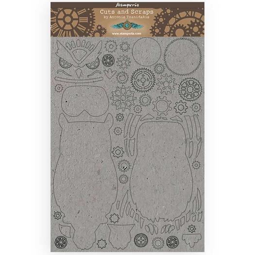 Διακοσμητικά από χαρτόνι Stamperia, 21x29,7cm/2mm, Sir Vagabond Owl