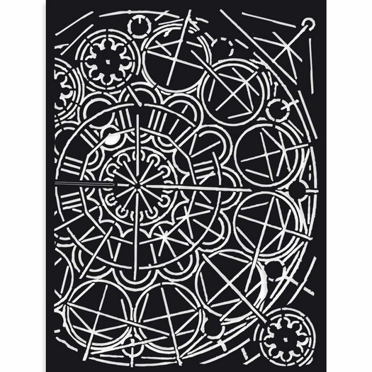 Thick Stencil 15x20cm, Stamperia, Sir Vagabond cracks