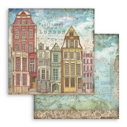 Χαρτιά scrapbooking 10τεμ, 30.5x30.5cm, Lady Vagabond Stamperia