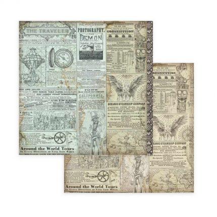 Χαρτιά scrapbooking 10τεμ, 20,3x20,3cm, Sir Vagabond Stamperia