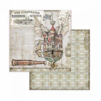 Χαρτιά scrapbooking 10τεμ, 20,3x20,3cm, Lady Vagabond Stamperia