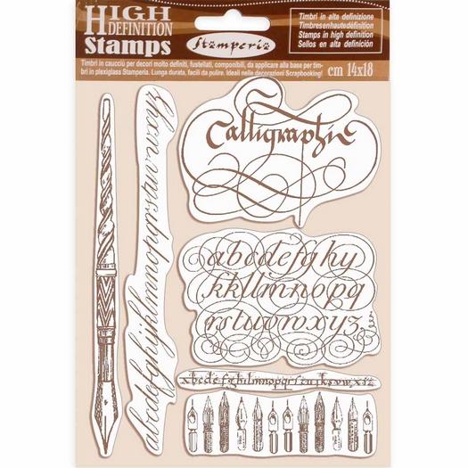 Σφραγίδα HD 14x18cm Stamperia, Calligraphy