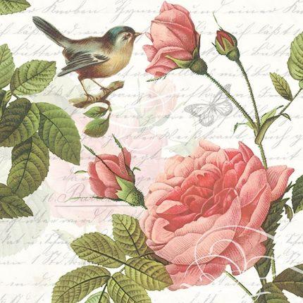 Χαρτοπετσέτα για decoupage, 1τεμ, Blossom Rose