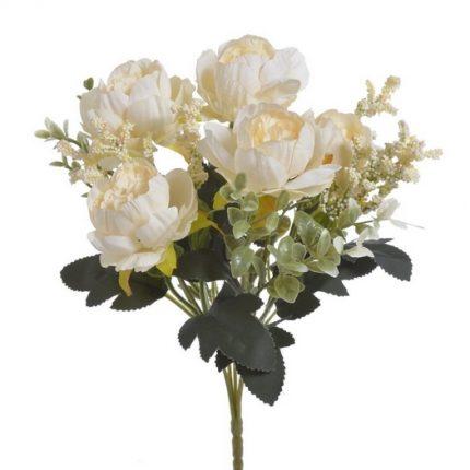 Μπουκέτο τριαντάφυλλα σύνθεση, 32cm, peach