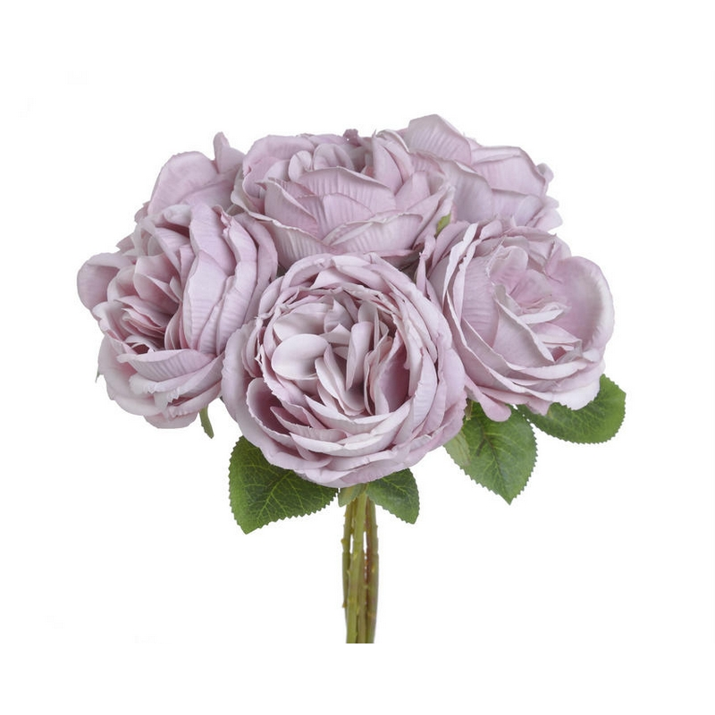 Μπουκέτο τριαντάφυλλα, 28cm, white
