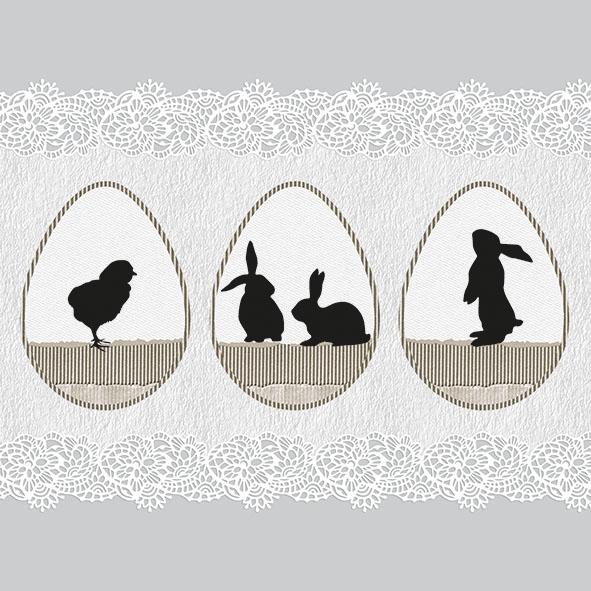 Χαρτοπετσέτα για decoupage, 1τεμ, Easter Shadows Grey