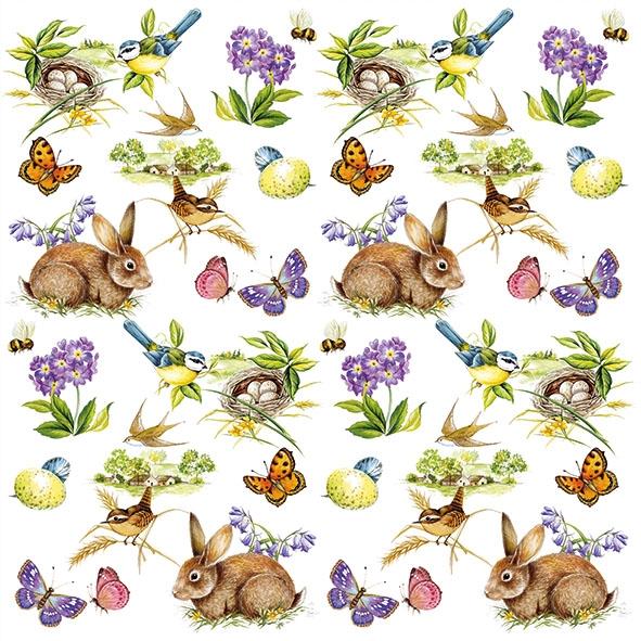 Χαρτοπετσέτα για decoupage, 1τεμ, Easter Feeling