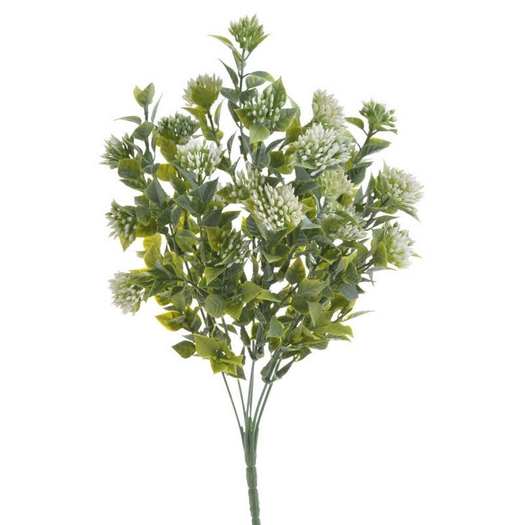 Μπουκέτο αγριολούλουδο, μπουμπουκάκια 35cm, white
