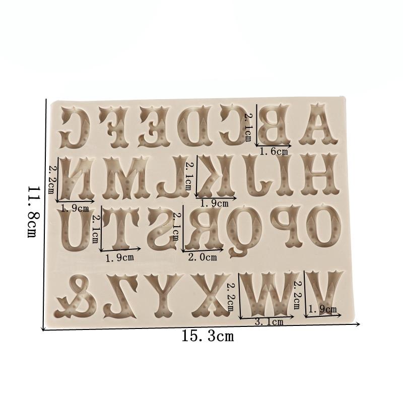 Καλούπι σιλικόνης, English Alphabet, 15,3x11,8cm