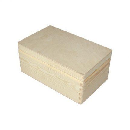 Κουτί ξύλινο μπαουλάκι 29x18x12,5cm