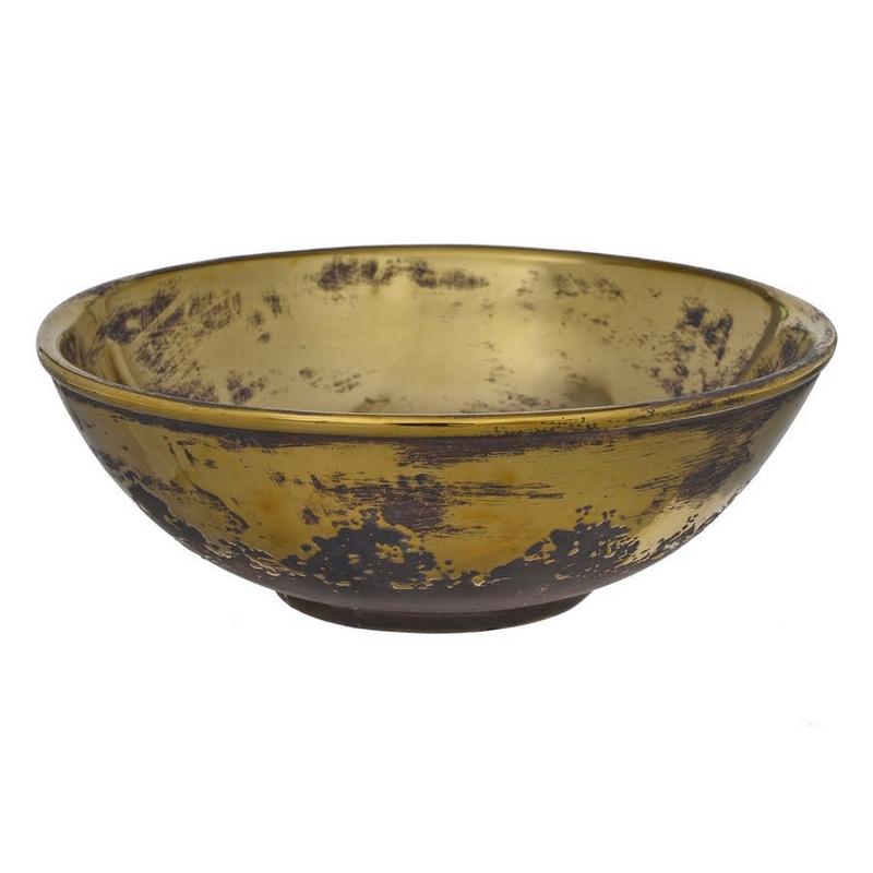 Μπολ κεραμικό, old gold, 25,5x9cm