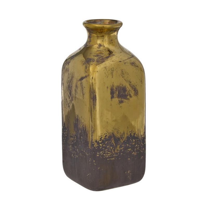 Μπουκάλι κεραμικό, old gold, 28cm