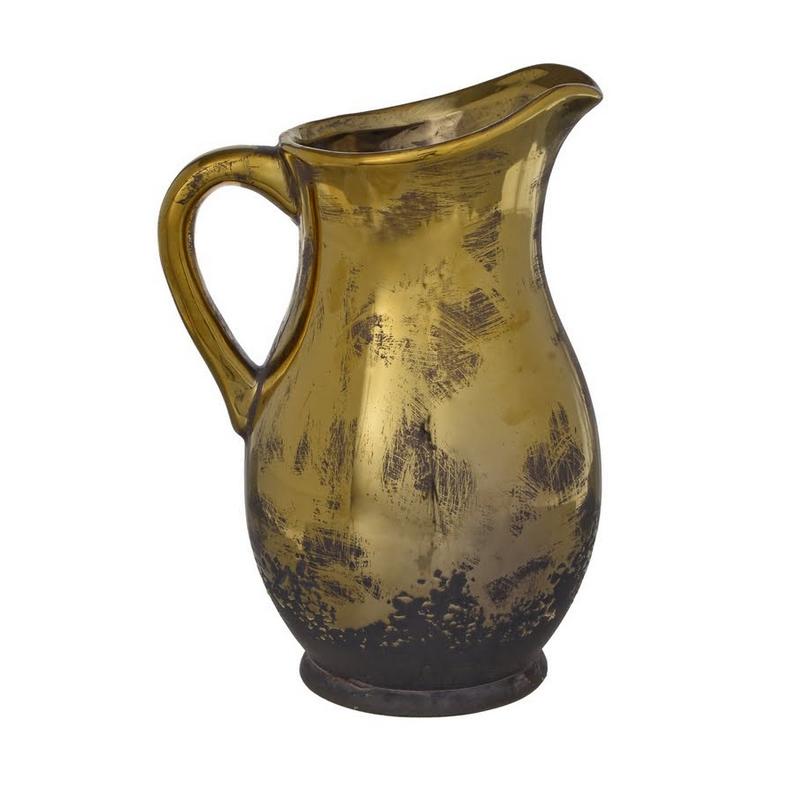 Κανάτα κεραμική, old gold, 25,5cm