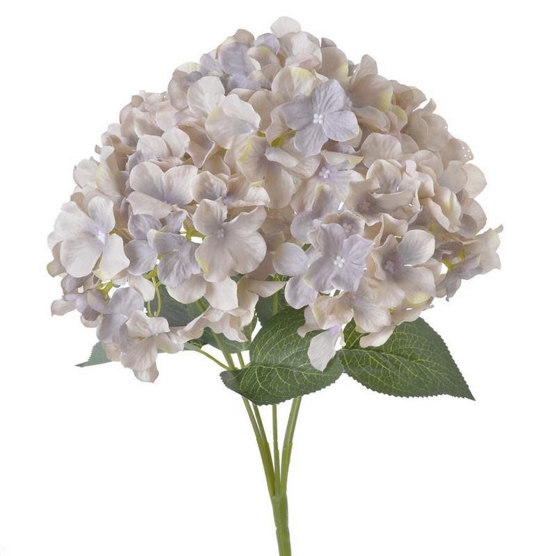 Μπουκέτο λουλουδιών ορτανσίες, vintage violet, 42cm