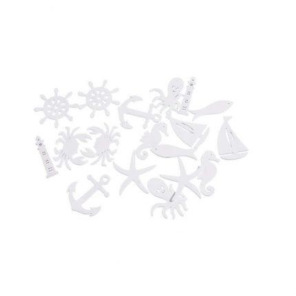 Καθρέπτης-παράθυρο, white-blue, 55x33x14cm