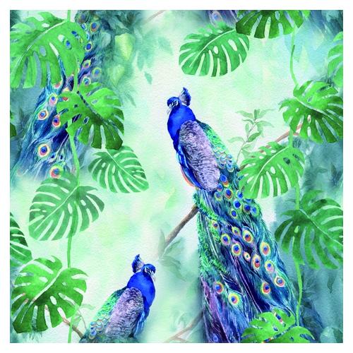 Χαρτοπετσέτα για Decoupage, Peacock Paradise, 1τεμ.