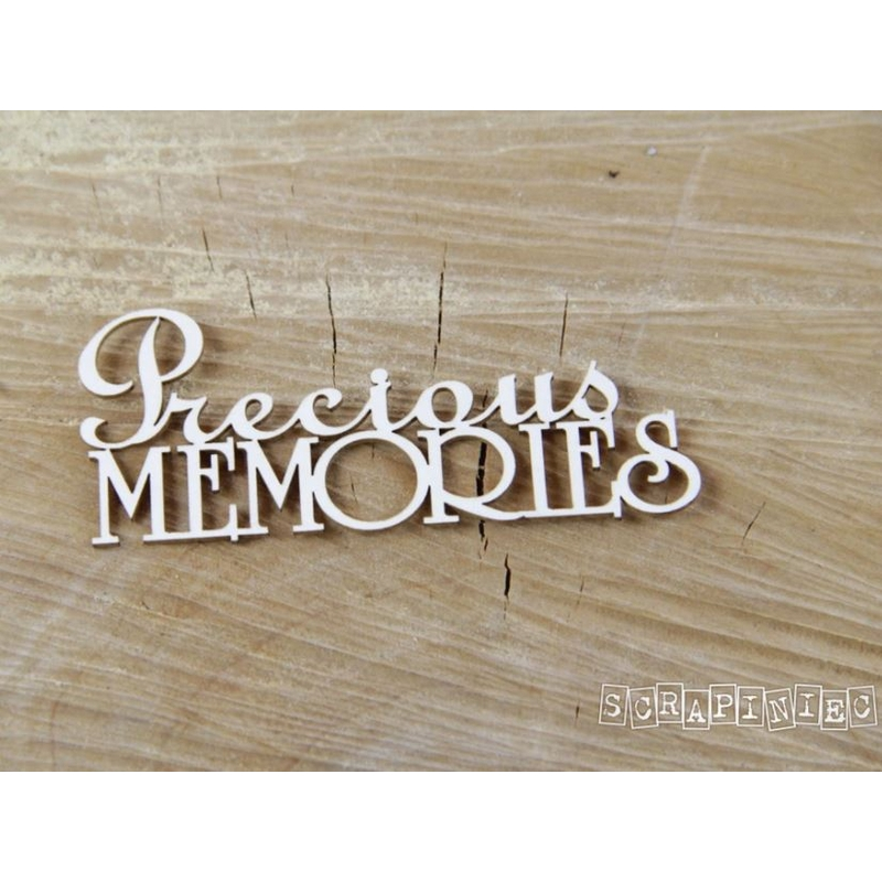 Διακοσμητικά Chipboard, Precious Memories, 7,5x3,5cm