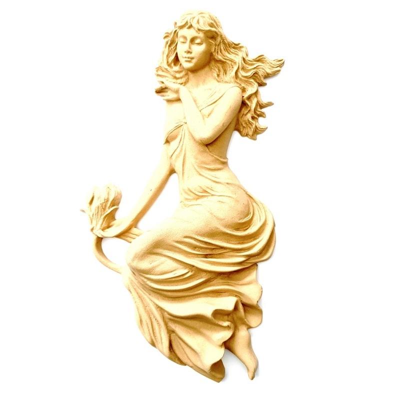 Ξυλόγλυπτη κορνίζα - πλαίσιο εικόνας, 10,5x15,5cm