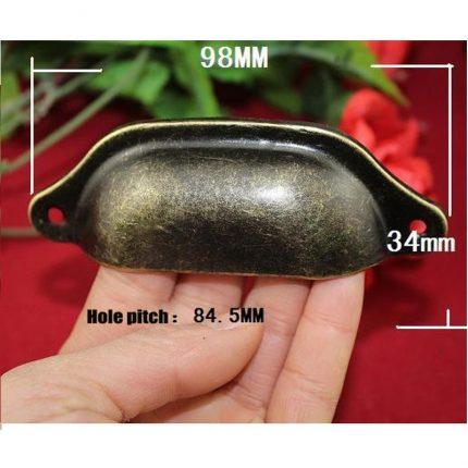 Μεταλλικό χερουλάκι χούφτα, 9.8x3.4cm