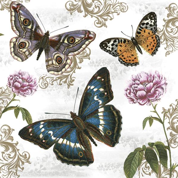 Χαρτοπετσέτα για decoupage 1 τεμ., Milkweed Butterflies