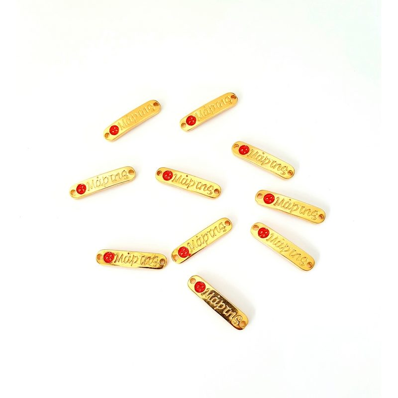 Μεταλλικά διακοσμητικά χελιδόνια, χρυσά, 10 τεμ.