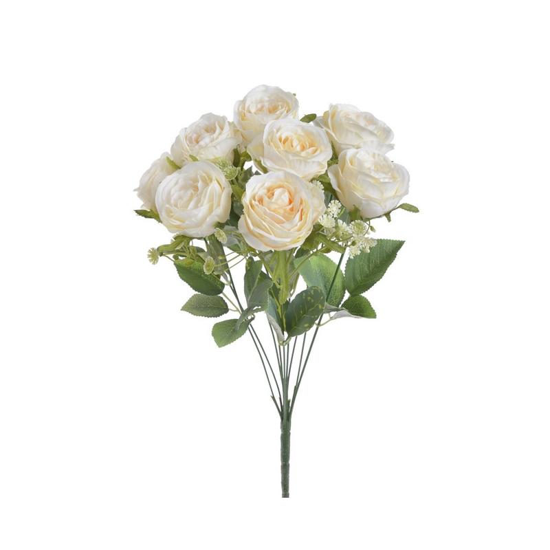 Μπουκέτο τριαντάφυλλα, 45cm, white