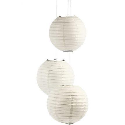 Φωτιστικό μπάλα από ριζόχαρτο, 35cm, λευκό