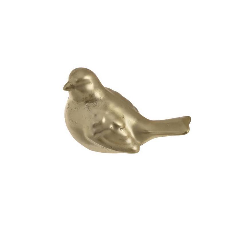 Πουλάκι κεραμικό χρυσό, 15cm