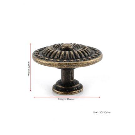 Μεταλλικό χερουλάκι στρογγυλό ρετρό, 20mm