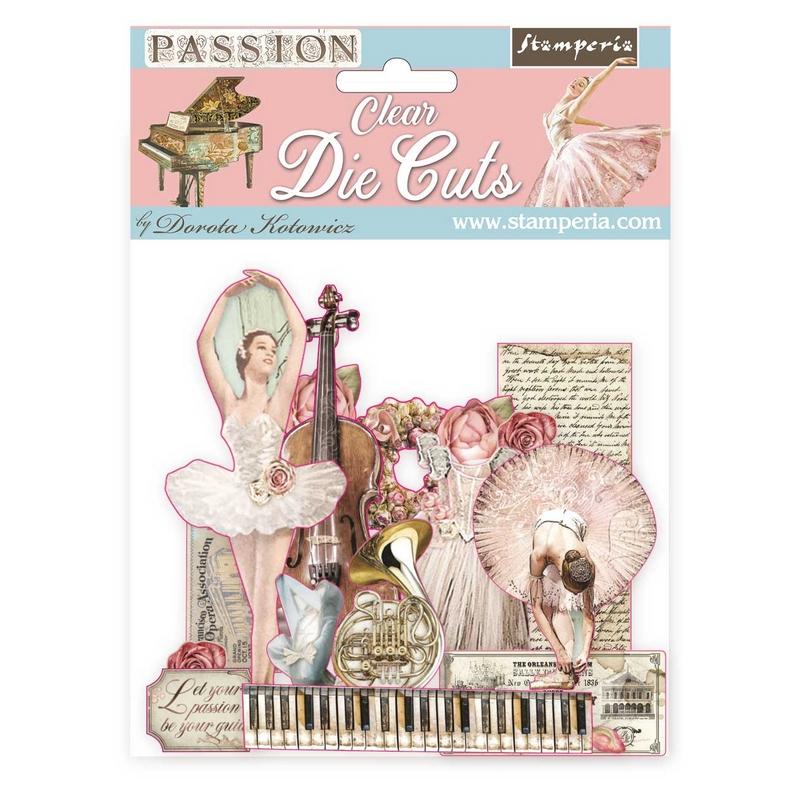 Διαφανή Clear Die cuts Stamperia, Passion